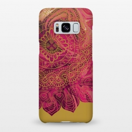 Galaxy S8+  Mandala in Red Marble by Rossy Villarreal