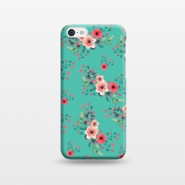 iPhone 5C  Flowers in Aquamarine by Rossy Villarreal
