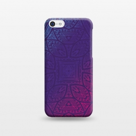 iPhone 5C  Mandala With Blue and Magenta 2 by Rossy Villarreal