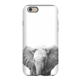iPhone 6/6s  Black and White Baby Elephant  by Alemi