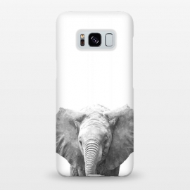 Galaxy S8+  Black and White Baby Elephant  by Alemi