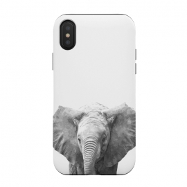 iPhone Xs / X  Black and White Baby Elephant  by Alemi