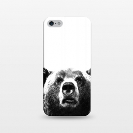 iPhone 5/5E/5s  Black and White Bear by Alemi