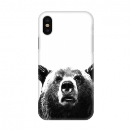 iPhone X  Black and White Bear by Alemi