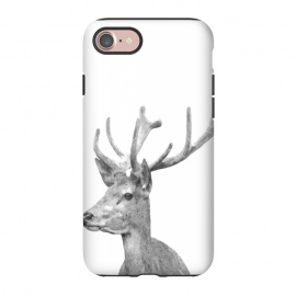 iPhone 8/7  Black and White Deer by Alemi