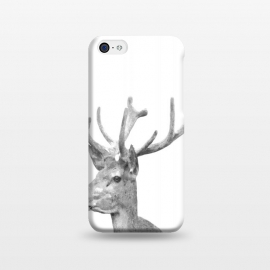 iPhone 5C  Black and White Deer by Alemi