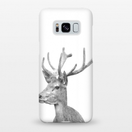 Galaxy S8+  Black and White Deer by Alemi