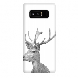 Galaxy Note 8  Black and White Deer by Alemi