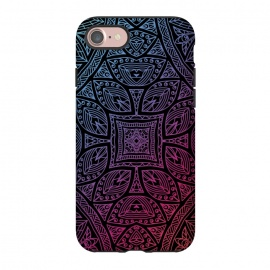 iPhone 8/7  Mandala With Blue and Magenta by Rossy Villarreal