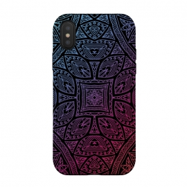 iPhone Xs / X  Mandala With Blue and Magenta by Rossy Villarreal