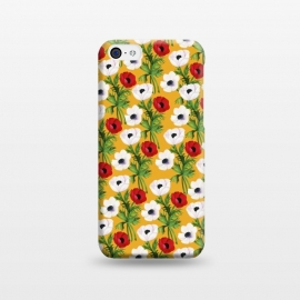 iPhone 5C  Yellow Flowers Rain by Rossy Villarreal