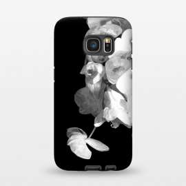 Galaxy S7  White Orchids Black Background by Alemi