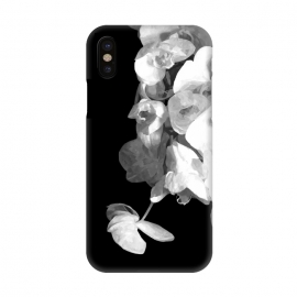iPhone X  White Orchids Black Background by Alemi