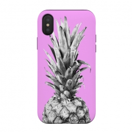 Black, White, Pink Pineapple by Alemi