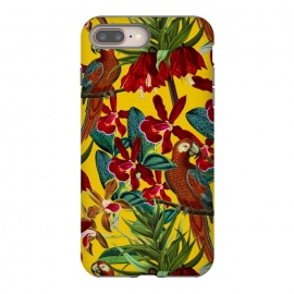 Parrots in tropical flower jungle by Utart