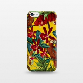 iPhone 5C  Parrots in tropical flower jungle by Utart