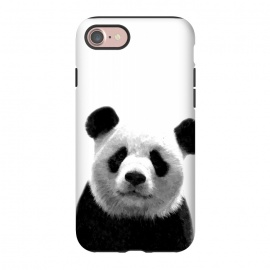 iPhone 8/7  Black and White Panda Portrait by Alemi