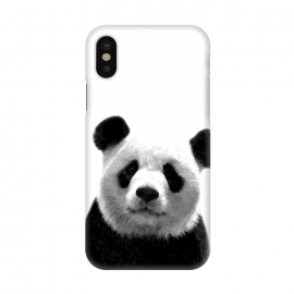 iPhone X  Black and White Panda Portrait by Alemi