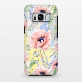 Galaxy S8 plus  Pastel Summer Poppy Meadow by