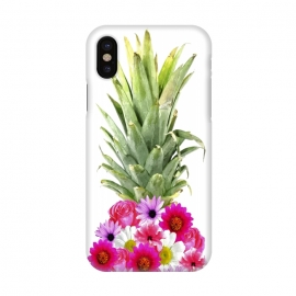 iPhone X  Pineapple Flowers by