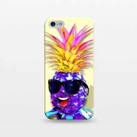 iPhone 5/5E/5s  Pineapple Ultraviolet Happy Dude with Sunglasses  by BluedarkArt