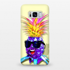 Pineapple Ultraviolet Happy Dude with Sunglasses  by BluedarkArt
