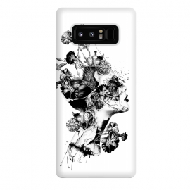 Galaxy Note 8  Broken BW by  (woman,blackandwhite,flowers,grunge,art,fantasy,surreal)