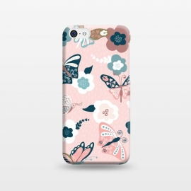 iPhone 5C  Beautiful Butterflies on Pink by Paula Ohreen