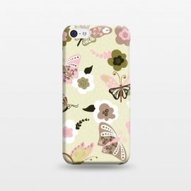 iPhone 5C  Beautiful Butterflies on Mint Green by Paula Ohreen