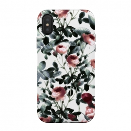iPhone Xs / X  Romantic pastel rose garden by