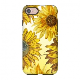 iPhone 8/7  Vibrant sunflowers on white yellow gradient by Oana