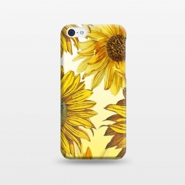 iPhone 5C  Vibrant sunflowers on white yellow gradient by Oana