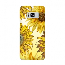 Vibrant sunflowers on white yellow gradient by Oana