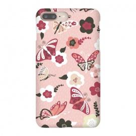 iPhone 8/7 plus  Beautiful Butterflies on Dusty Pink by