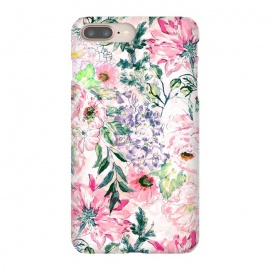 Boho chic watercolor pink floral hand paint by InovArts