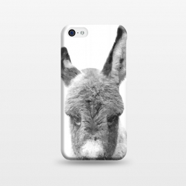 iPhone 5C  Black and White Baby Donkey by Alemi