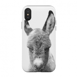iPhone Xs / X  Black and White Baby Donkey by Alemi