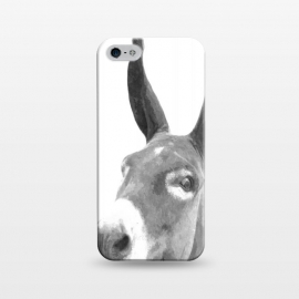 iPhone 5/5E/5s  Black and White Donkey by Alemi