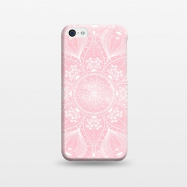 iPhone 5C  Elegant white mandala design by InovArts