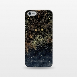 iPhone 5/5E/5s  Stylish Gold floral mandala and confetti by InovArts