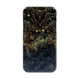 iPhone X  Stylish Gold floral mandala and confetti by InovArts