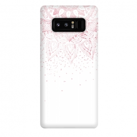 Galaxy Note 8  Elegant rose gold mandala confetti design by InovArts