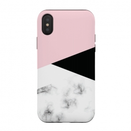 iPhone Xs / X  Marble III 014 by Jelena Obradovic ( Marble, marbling, texture, design, vector, illustration, black and white, gray, monochrome, surface, luxurious, elegant, background, stone, natural, print, pattern, seamless, repeat, abstract, art, card, creative, decoration, effect, backdrop, graphic, modern, contemporary, shapes, organic, waves)