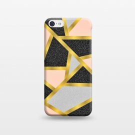 Geometric peach black by Jms