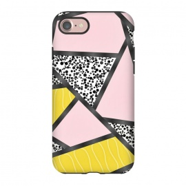 iPhone 8/7  Geometric pink black by Jms
