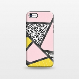 iPhone 5C  Geometric pink black by Jms