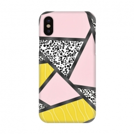 iPhone X  Geometric pink black by Jms