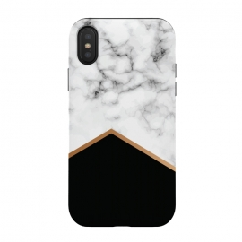 iPhone Xs / X  Marble III 077 by Jelena Obradovic ( Marble, marbling, texture, design, vector, illustration, black and white, gray, monochrome, surface, luxurious, elegant, background, stone, natural, print, pattern, seamless, repeat, abstract, art, card, creative, decoration, effect, backdrop, graphic, modern, contemporary, shapes, organic, waves)