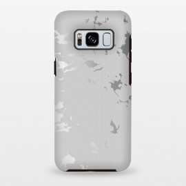 Galaxy S8+  Silver Splatter 001 by Jelena Obradovic (texture, design, vector, illustration, black and white, gray, monochrome, surface, luxurious, elegant, background, stone, natural, print, pattern, seamless, repeat, abstract, art, card, creative, decoration, effect, backdrop, graphic, modern, contemporary, shapes, organic, waves, splatter, branding,)
