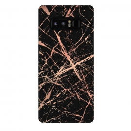 Galaxy Note 8  Copper Splatter 003 by Jelena Obradovic